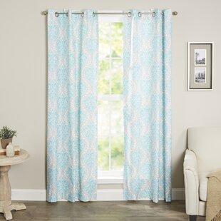 Williamsville Damask Room Darkening Thermal Grommet Curtain Panels (Set of 2)