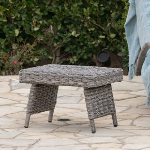 Hersom Outdoor Aluminum Wicker Side Table