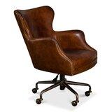 McKellen Genuine Leather Executive Chair by Latitude Run