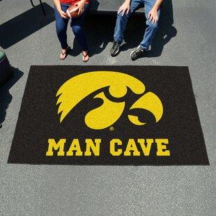 Collegiate NCAA University of Iowa Man Cave Doormat By FANMATS