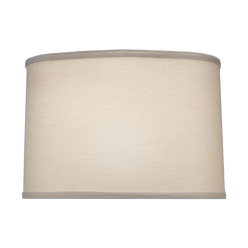 Latitude Run 14 H X 15 W Linen Drum Lamp Shade Spider In Ivory Wayfair
