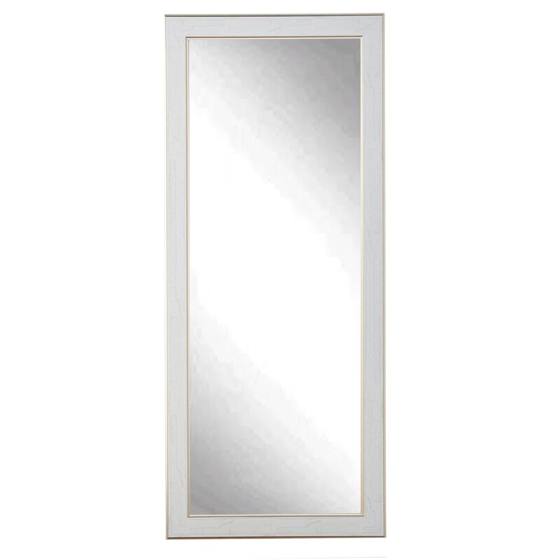 one allium way white gold cracked full length wall mirror reviews wayfair. Black Bedroom Furniture Sets. Home Design Ideas