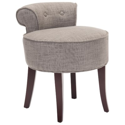 Chloe Vanity Stool Color: Stone by Alcott Hill