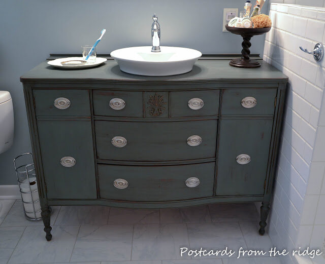 Postcards from the Ridge bathroom makeover