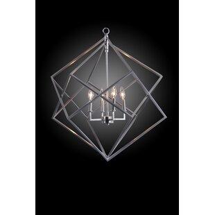 Compare Ellman 4-Light Geometric Chandelier By Wrought Studio