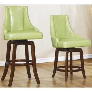 Cajun 29 Swivel Bar Stool (Set Of 2) by Red Barrel Studio Wonderfult