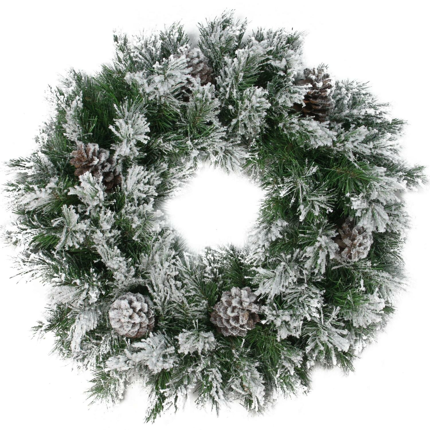 huge selection of b494a bd623 Flocked Angel Pine Plastic Wreath