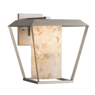 Reviews Canvey LED Outdoor Sconce By Highland Dunes