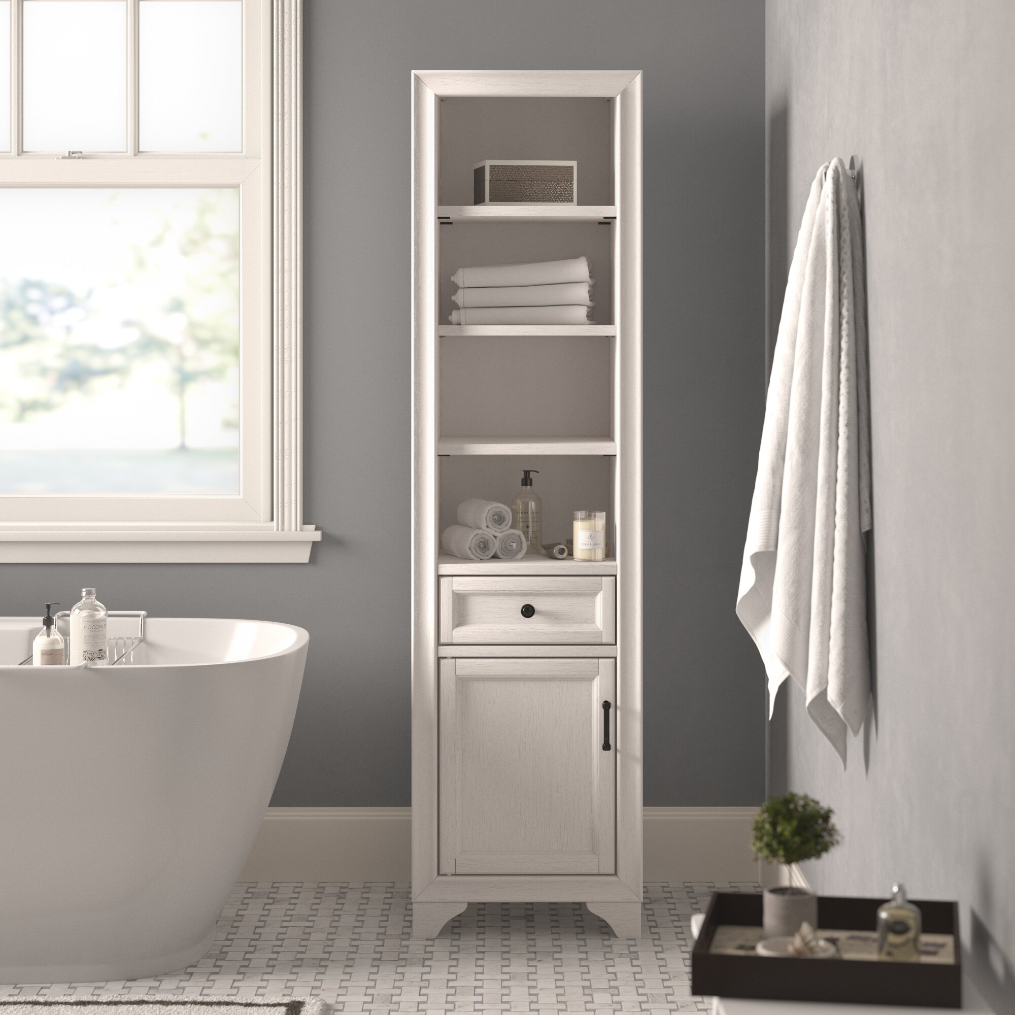 Picture of: Linen Cabinets Towers You Ll Love In 2020 Wayfair