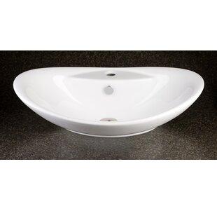 Sophia Ceramic Specialty Vessel Bathroom Sink with Overflow Inello