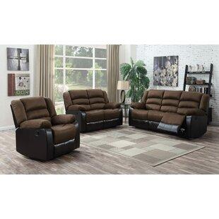 bethzy reclining living room set set of 3 - Reclining Living Room Sets