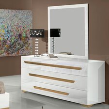 Lacey 3 Drawer Dresser with Mirror by Willa Arlo Interiors