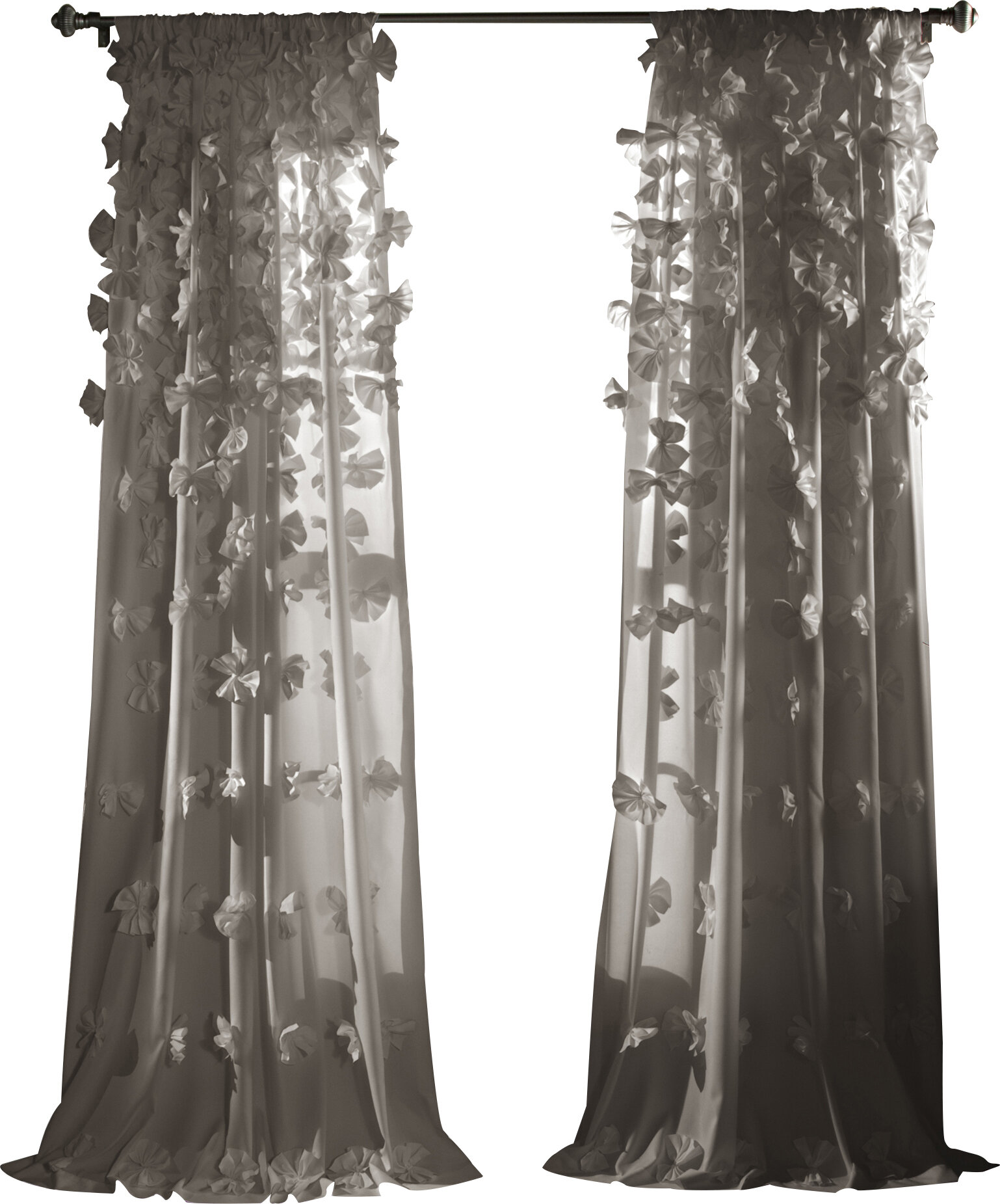 Gray and Silver Curtains & Drapes You\'ll Love | Wayfair