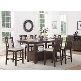Nika 7 Piece Counter Height Dining Set by Winston Porter