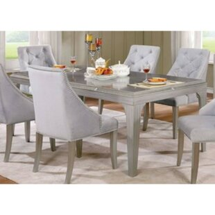 Isidore 6 Piece Solid Wood Dining Set