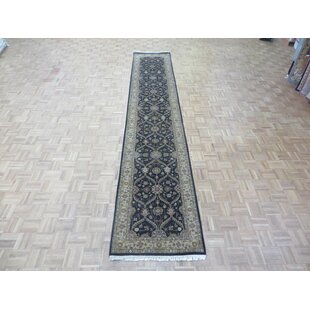 Purchase One-of-a-Kind Beason Hereke Hand-Knotted Black Area Rug By Isabelline