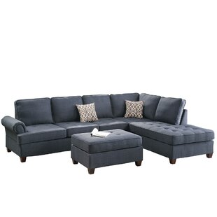 Bobkona Azura Right Hand Facing Sectional with Ottoman