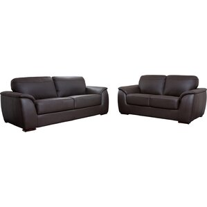 Voyles 2 Piece Leather Living Room Set by Br..