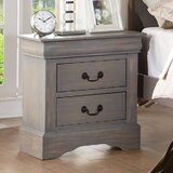 Katzer 2 - Drawer Nightstand in Antique Gray by Canora Grey