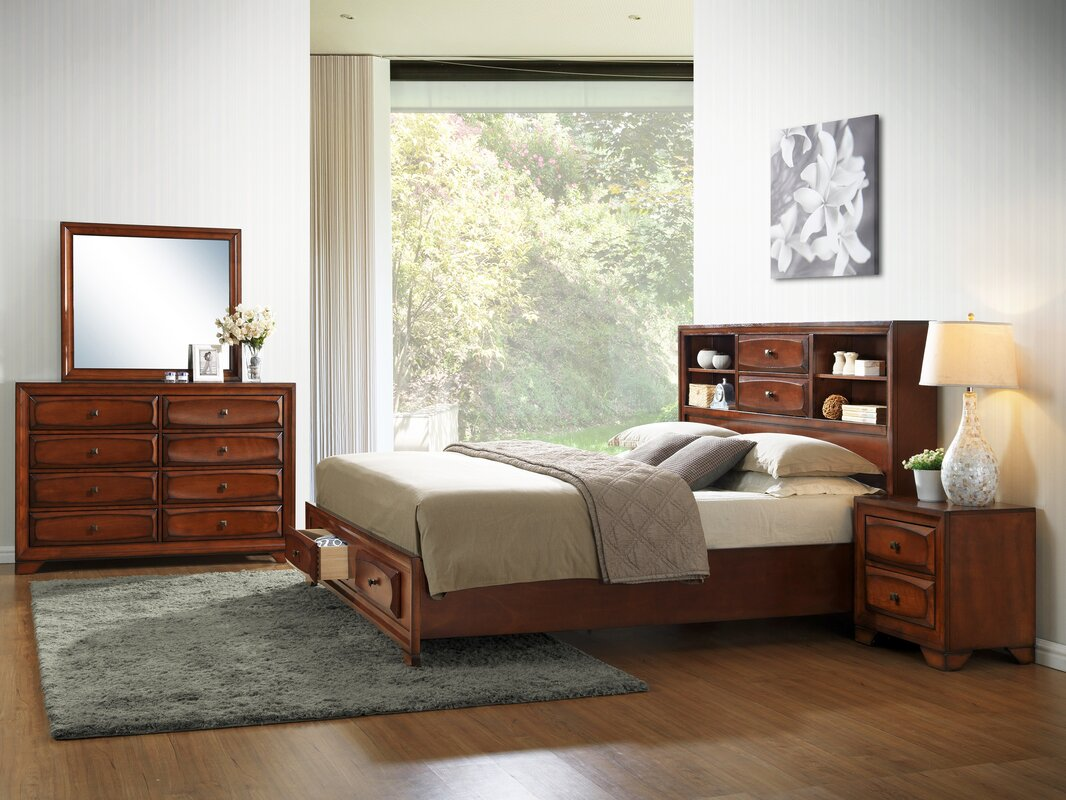 Roundhill Furniture Asger King Platform Bedroom Set & Reviews | Wayfair