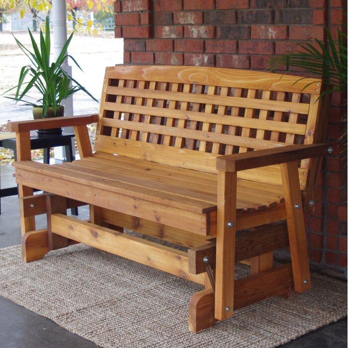 Admirable Shannon Cedar Lattice Glider Bench Creativecarmelina Interior Chair Design Creativecarmelinacom