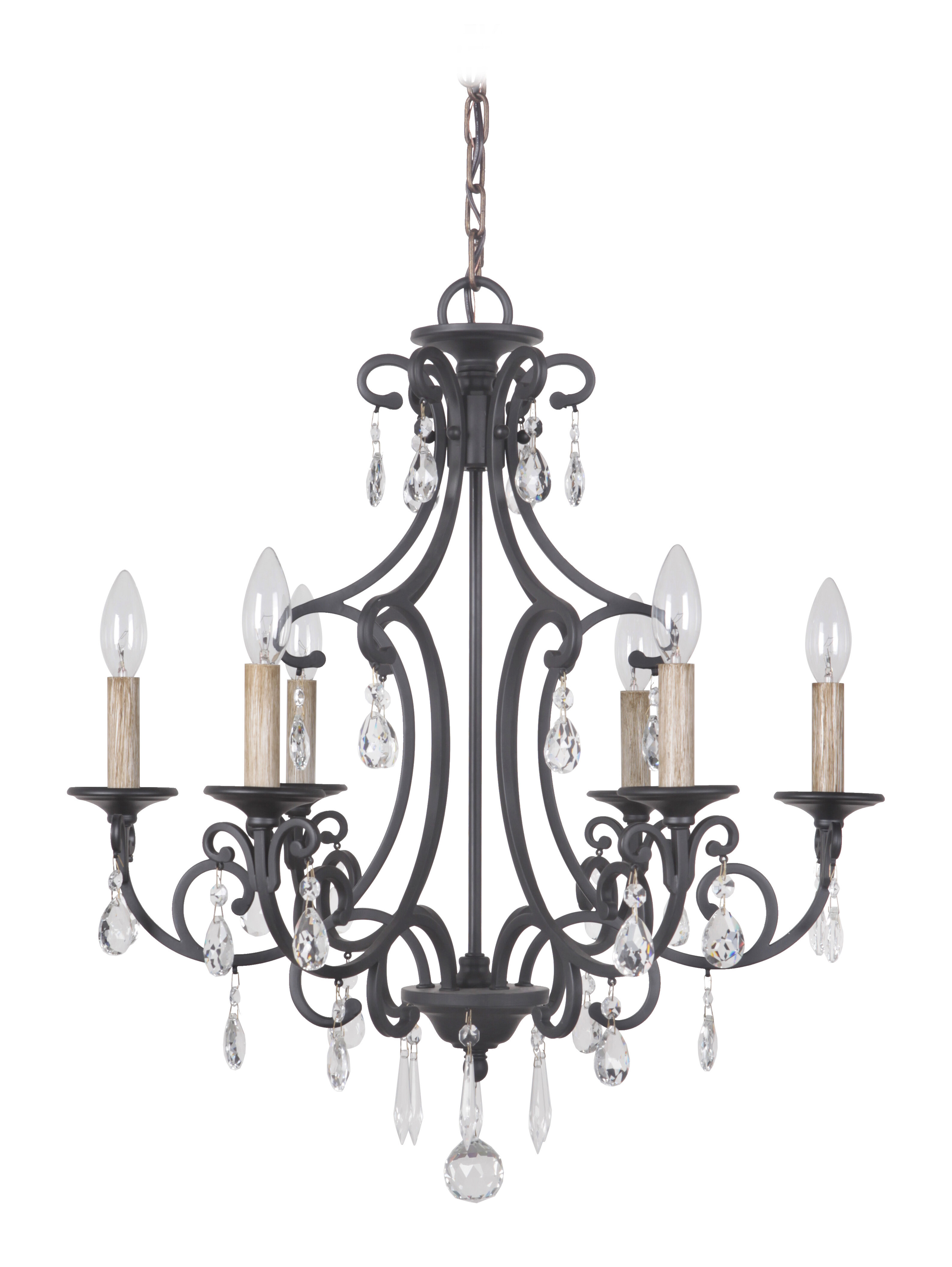 Astoria Grand Vanderbilt 6 Light Candle Style Classic Traditional Chandelier With Crystal Accents Accents Reviews Wayfair
