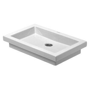 2nd Floor Above Counter Vanity Basin Rectangular Vessel Bathroom Sink