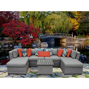 Florence 7 Piece Sectional Seating Group with Cushions By TK Classics