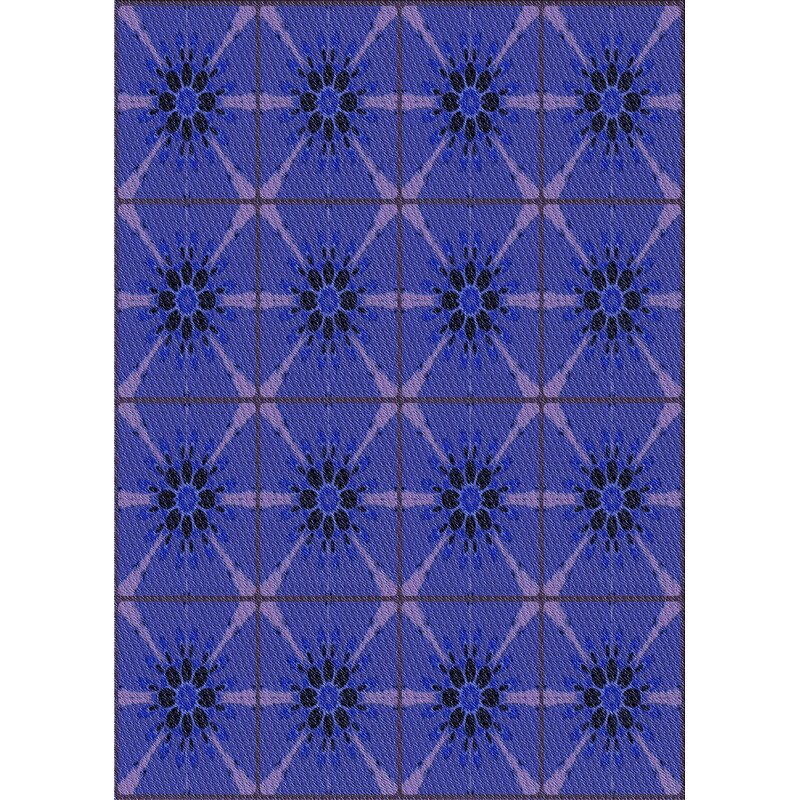 East Urban Home Cartagena Geometric Blue Area Rug Wayfair