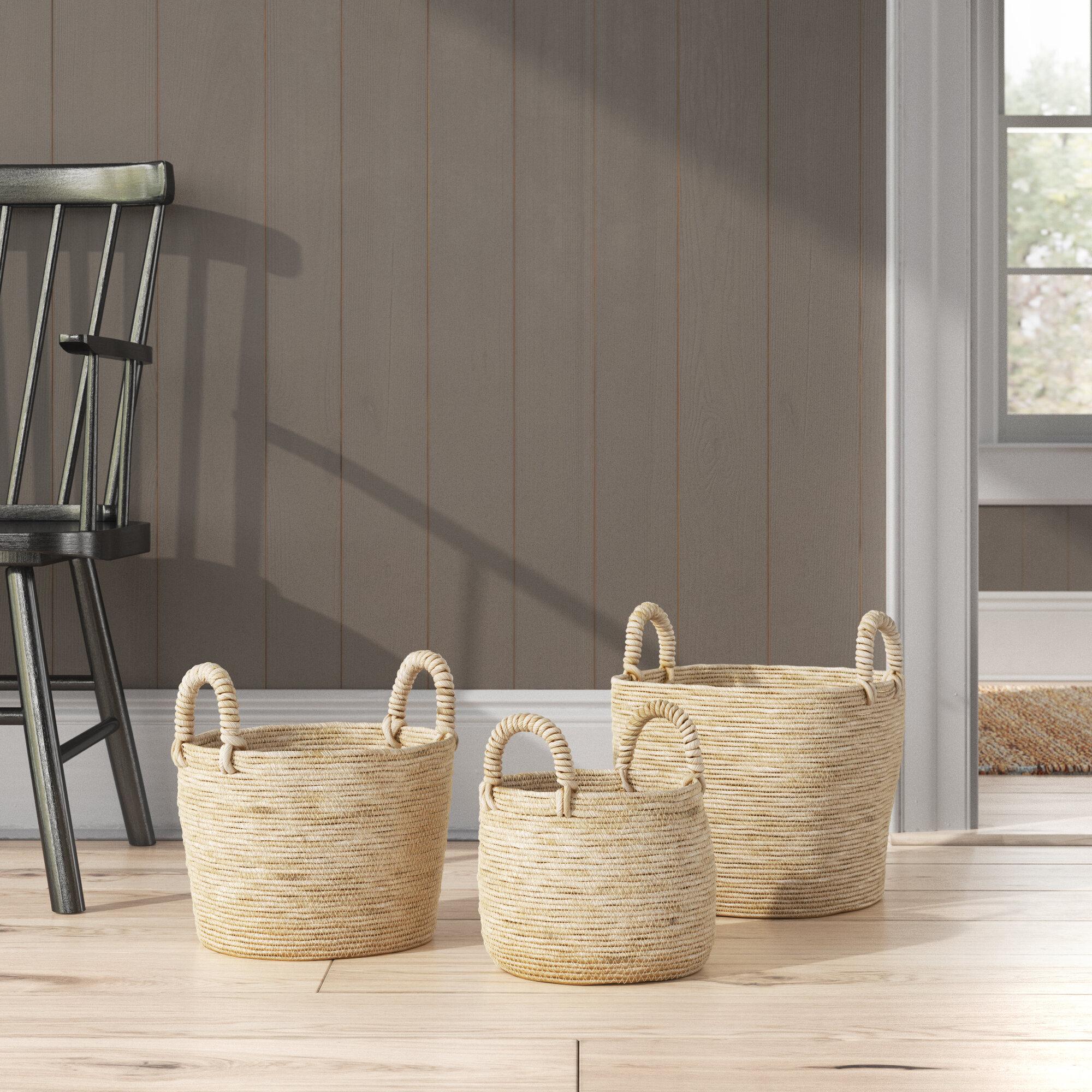 Berke 3 Piece Wicker Basket Set Birch Lane