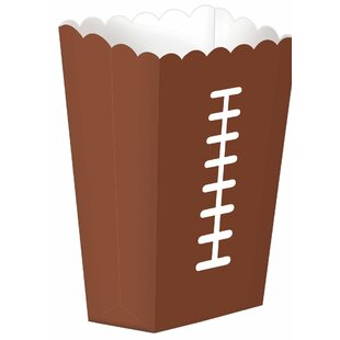 Football Paper Disposable Snack Cups (Set of 3)