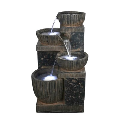 Resin Fountain with LED Light DynastyHome&Garden