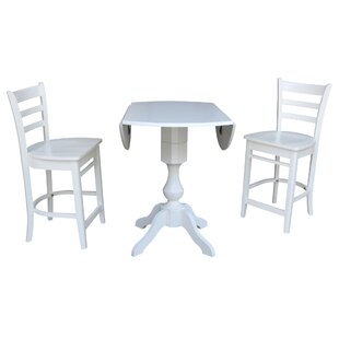 Pattie 3 Piece Pub Table Set Canora Grey