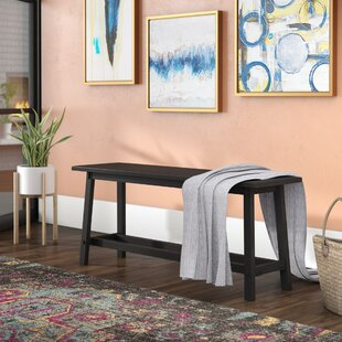 Jade Wood Bench by Andover Mills