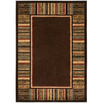 Highland Dunes One Of A Kind Wickman Handwoven 4 7 X 6 7 Wool Brown Area Rug Wayfair