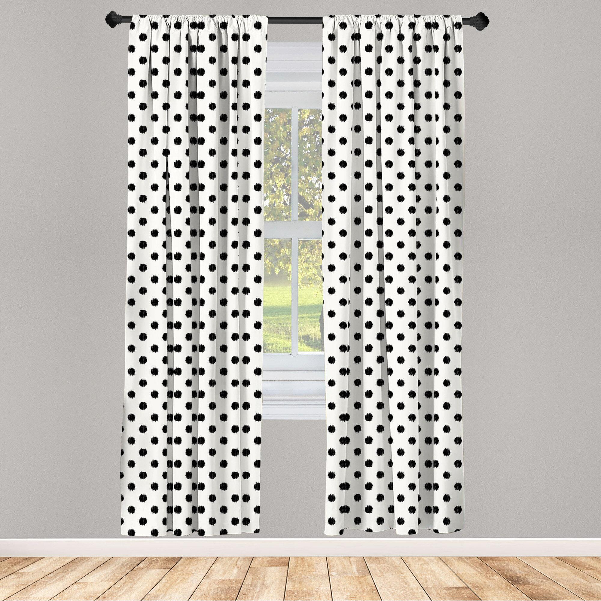 East Urban Home Bogata Polka Dots Room Darkening Rod Pocket Curtain Panels Reviews Wayfair