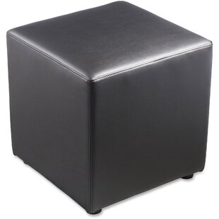 Leather Cube Ottoman by Lorell