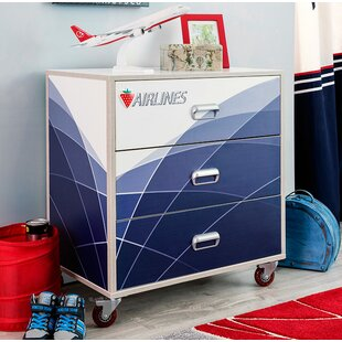 First Class Airplane 3 Drawer Chest by Cilek