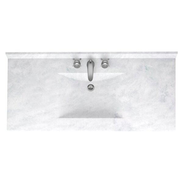 """Swan Surfaces Contour 43"""" Single Bathroom Vanity Top ..."""
