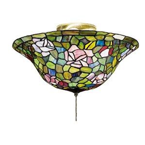 tiffany rosebush 3light bowl ceiling fan light kit - Ceiling Fan Light Kits