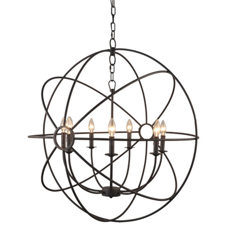 Greyleigh Lovettsville 7 Light Led Globe Chandelier Reviews