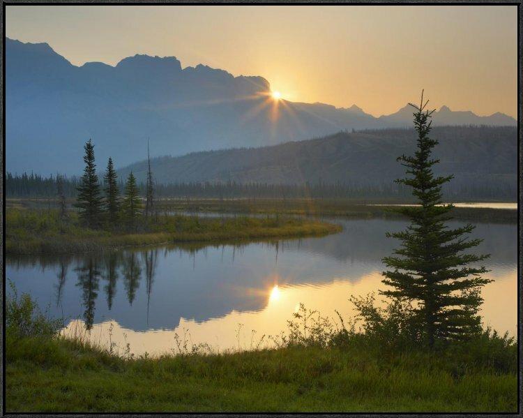 East Urban Home Sunset Over Miette Range And Talbot Lake Jasper National Park Alberta Canada Framed Photographic Print Wayfair
