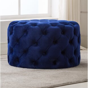 Find Bright Round Tufted Cocktail Ottoman By House of Hampton