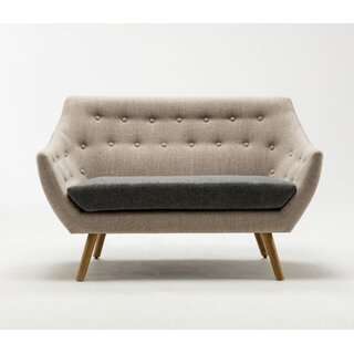 Westford  Dual Tone Tufted Loveseat by George Oliver SKU:CA500437 Description
