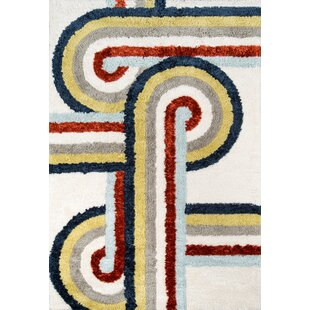 Best Reviews Turnstyle Hand-Tufted White Area Rug By Novogratz