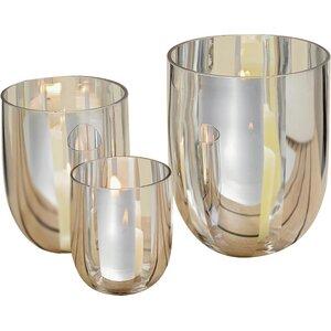 3-tlg. Windlicht-Set Elea aus Glas