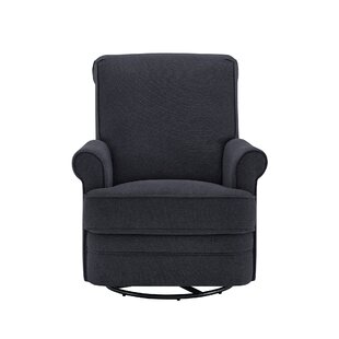 Vanda Upholstered Swivel Glider