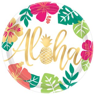 Summer Luau You Had Me At Aloha Paper Dinner Plate (Set of 8)
