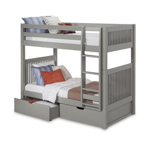 Oakwood Twin Over Twin Bunk Bed With Drawer by Harriet Bee Today Sale Only