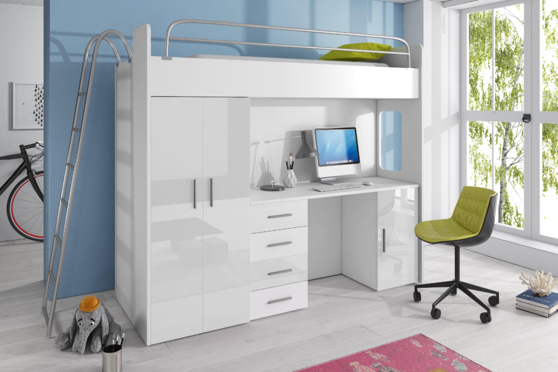 Asturien Hochbett Schlafzimmer Set